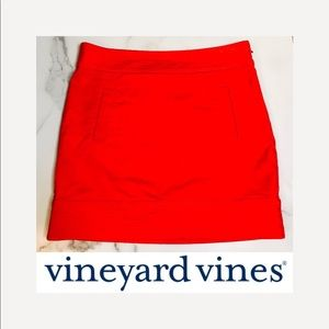 Vineyard Vines Bright Red Mini Skirt with Pockets